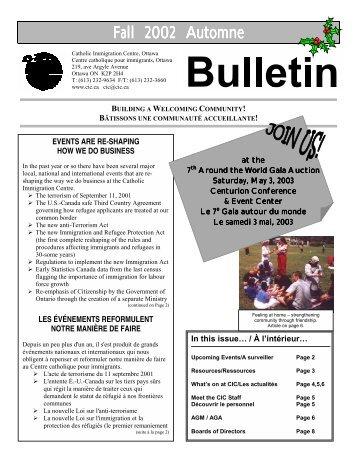 Fall 2002 - Catholic Immigration Centre