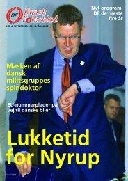 Lukketid for Nyrup - Dansk Folkeparti