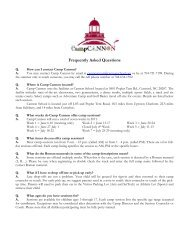 Frequently Asked Questions - Cannon School