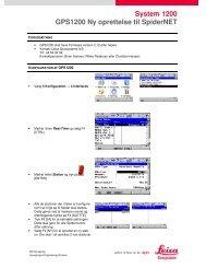 System 1200 GPS1200 Ny oprettelse til SpiderNET - Leica SmartNet ...