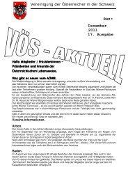 Dezember 2011 17. Ausgabe Vereinigung der Österreicher in der ...