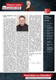 2Hz+Nachrichten aus Düsseldorf 03-2013 ... - Gatter, Stephan