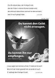 Jesus sagte noch einmal zu ihnen: Friede sei mit ... - Pfarre Podersdorf