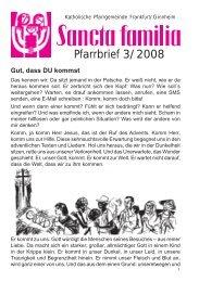 Pfarrbrief 3/2008 - Sancta familia