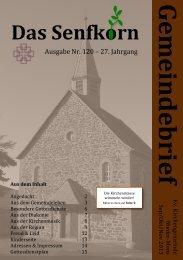 Gemeindebrief 2013-4 - Evangelische Kirchengemeinde Nieder-Moos