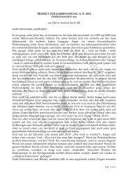 Predigt zur Jahreslosung 2010 - Evangelische und Katholische ...
