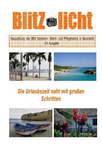 Hauszeitung 24 - BRK Seniorenwohn- und Pflegeheim Neumarkt