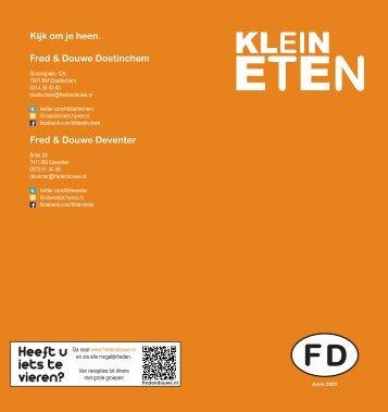 klein eten OKT12 kopie - Fred & Douwe