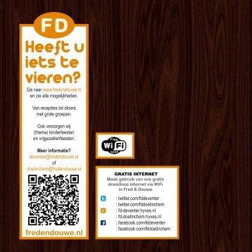 Drankenkaarten - Fred & Douwe