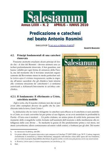 Predicazione e catechesi nel beato Antonio Rosmini - Centro ...