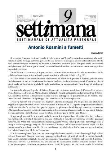 Antonio Rosmini a fumetti