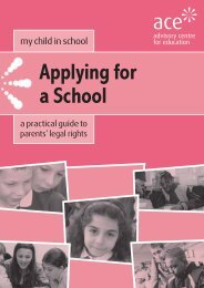 Applying for a School - Advisory Centre for Education
