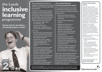 Leeds Inclusive Learning newsletter mono.indd - Leeds Parent ...