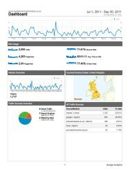 Download Quarterly Website Statistics - July - September 2011