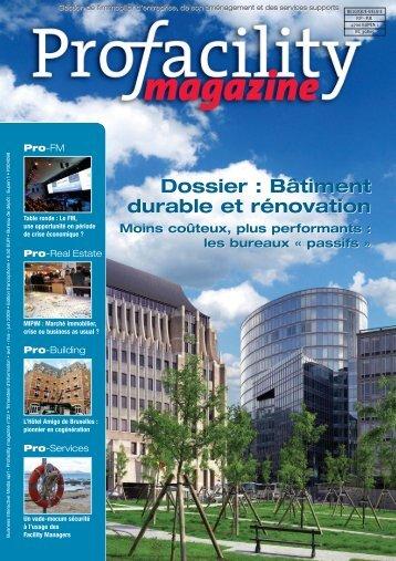 Dossier : Bâtiment durable et rénovation Dossier ... - ProFacility.be