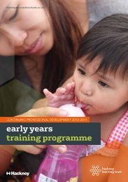 Early Years Training Programme2013-14 - Services for Schools