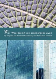 handleiding 'Waardering van kantoorgebouwen' - Vlaanderen