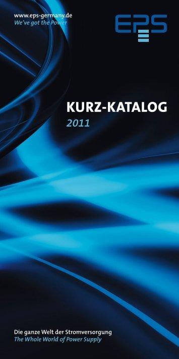kurz-katalog 2011 - EPS Stromversorgung