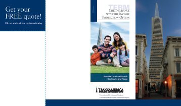 Income Protection Option Consumer Mailer - Transamerica