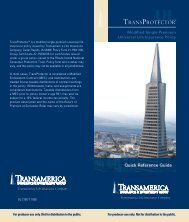 TransProtector Quick Reference Producer Guide - Transamerica