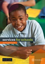2012/2013 SERVICE GUIDE - Services for Schools