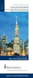 Trendsetter Super Series Product Guide NY - Transamerica