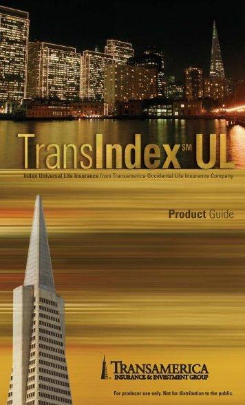TransIndexSM UL Universal Life Insurance - Transamerica