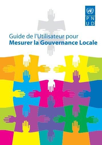 Guide de l'Utilisateur pour Mesurer la Gouvernance Locale