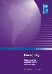 Paraguay: Governance Assessments - UNDP