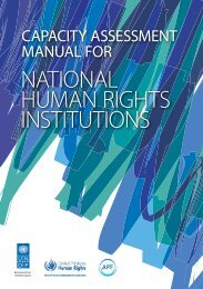 Capacity Assessment Manual for National Human Rights Institutions