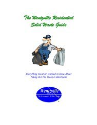 Solid Waste & Recycling Guide - The City of Wentzville | Missouri