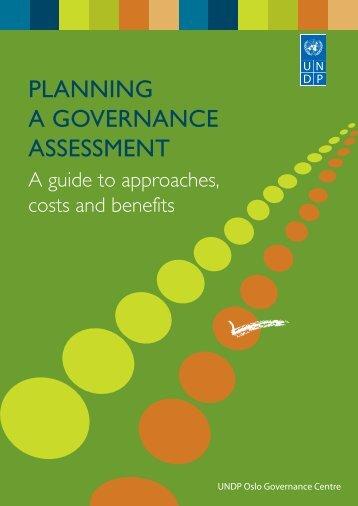 planning a governance assessment - United Nations Development ...