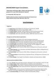 Participants List - Governance Assessment Portal