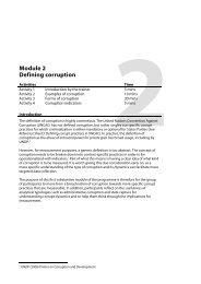 Module 2: Defining corruption - Governance Assessment Portal