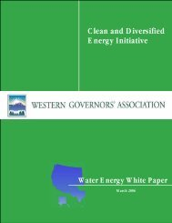 Western Governors' Association Clean and Diversified Energy ...