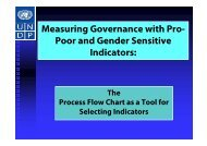 Measuring Governance with Pro- Poor and Gender Sensitive ...