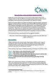 Policy Briefing on Female Genital Mutilation (FGM) - AVA