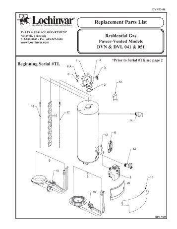 Replacement Parts List - Lochinvar