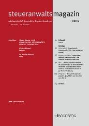 steueranwalts magazin - Richard Boorberg Verlag