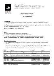 FICHE TECHNIQUE Circuits Fermes 16-3S - Defracto