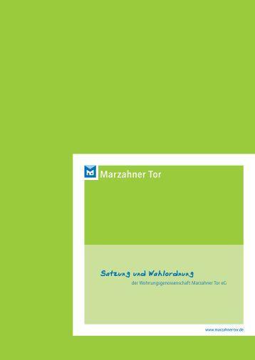 Satzung und Wahlordnung - Wohnungsgenossenschaft Marzahner ...