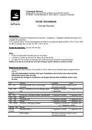 FICHE TECHNIQUE Circuits Fermes 14-3S - Defracto