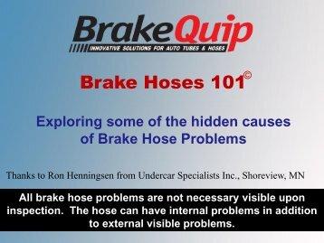 Brake Hose Problems - BrakeQuip