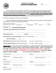 Block Party Request Form - Peabody