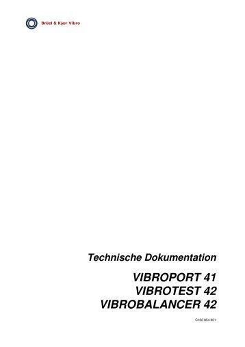 vibroport 41 vibrotest 42 vibrobalancer 42 - Brüel & Kjaer Vibro