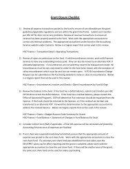 Grant Closure Checklist - TTUHSC :: Finance & Administration