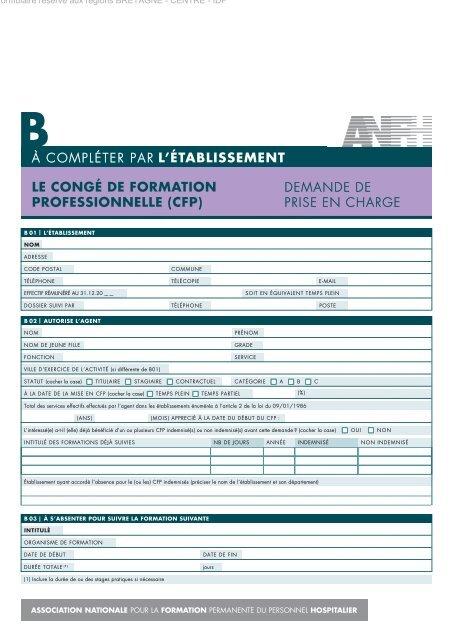 769ea620e16 LE CONGÉ DE FORMATION PROFESSIONNELLE (CFP) - ANFH
