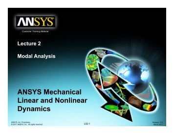 ANSYS Mechanical Linear and Nonlinear ... - web page for staff