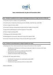 Axes institutionnels du plan de formation 2014 - Anfh
