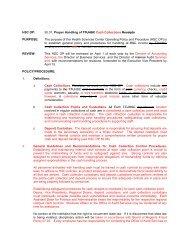 OP 50.07 Proper Handling of Cash Collections - TTUHSC :: Finance ...